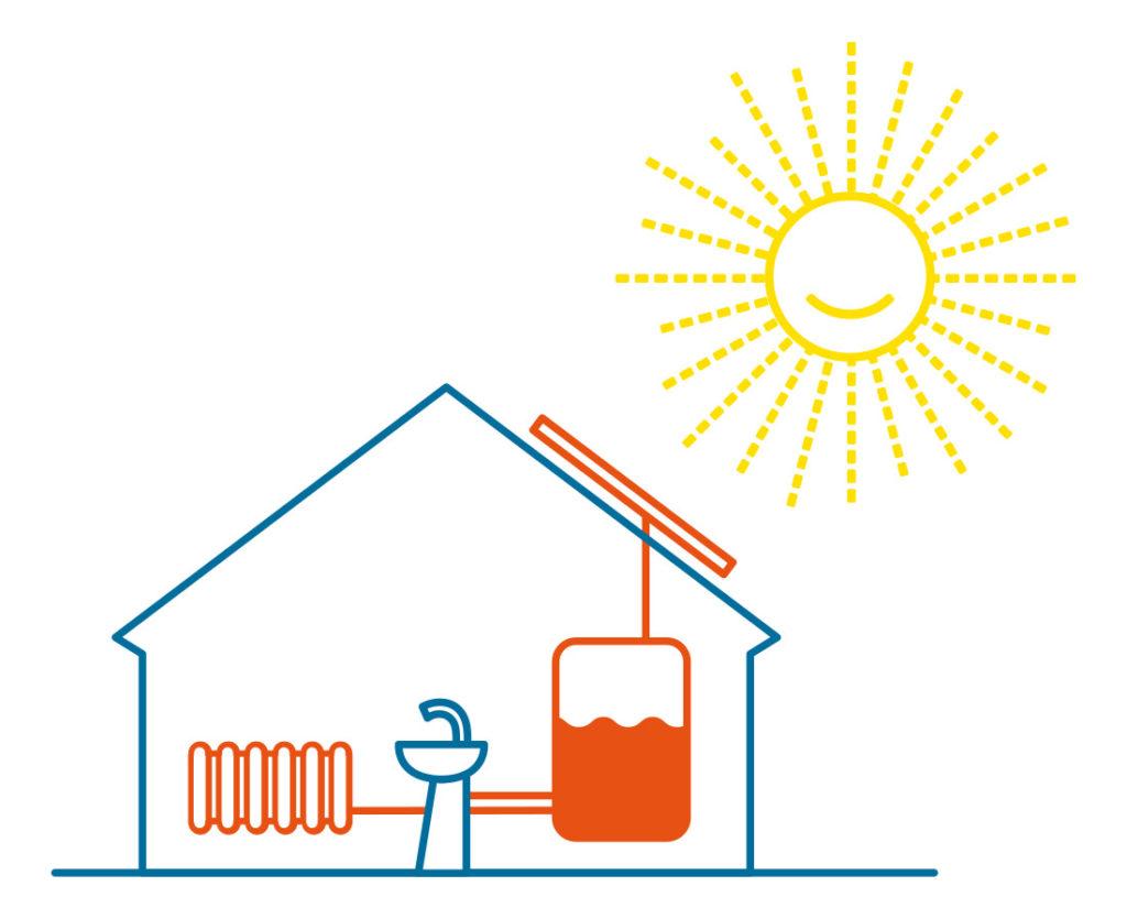 Dům Soláru –Ohřev TUV a přítápění